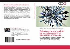 Estado del arte y análisis de investigaciones en educación preescolar