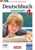Deutschbuch 1: 5. Schuljahr. Arbeitsheft mit Lösungen und Übungs-CD-ROM. Gymnasium Baden-Württemberg