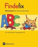 Findefix Wörterbuch in vereinfachter Ausgangsschrift
