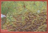 Reliefpostkarte Allgäu Süd