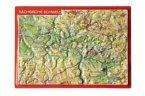 Reliefpostkarte Sächsische Schweiz