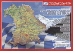 Reliefpostkarte Bayern
