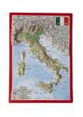 Reliefpostkarte Italien