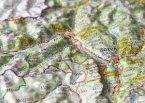 Reliefpostkarte Südtirol