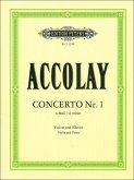 Concertino Nr.1 in a-Moll, Violine und Klavier, Violinenstimme u. Klavierpartitur