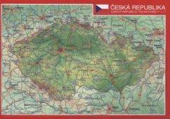 Reliefpostkarte Tschechien