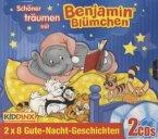Schöner träumen mit Benjamin Blümchen, 2 x 8 Gute-Nacht-Geschichten, 2 Audio-CDs
