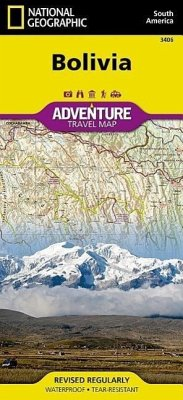 National Geographic Adventure Travel Map Bolivia - National Geographic Maps