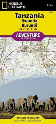 National Geographic Adventure Travel Map Tanzania, Rwanda, Burundi - National Geographic Maps