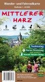 Der mittlere Harz, Wander- und Fahrradkarte