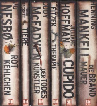 Bild am Sonntag Mega-Thriller, 6 Bände - Beckett, Simon; Hoffmann, Jiliane; Fitzek, Sebastian; Mankell, Henning; Nesbo, Jo; McFadyen, Cody