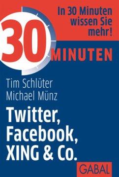 30 Minuten Twitter, Facebook, XING & Co. - Schlüter, Tim;Münz, Michael