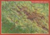 Reliefpostkarte Bayerischer Wald