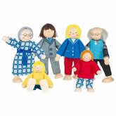Goki so218 - Biegepuppen City Familie für Puppenhaus, Set mit 6 Figuren