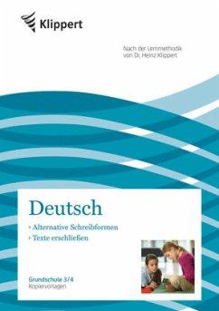 Alternative Schreibformen / Texte erschließen - Gerhardt, Jutta