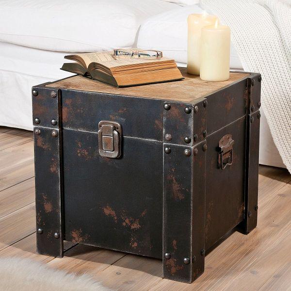 miavilla truhe noah braun portofrei bei b. Black Bedroom Furniture Sets. Home Design Ideas