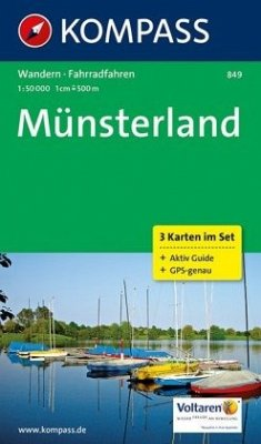 Kompass Karte Münsterland, 3 Bl. m. Kompass Nat...