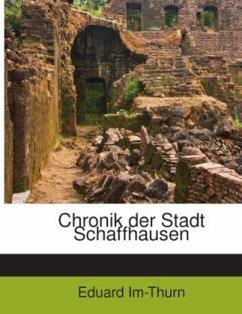 Chronik Der Stadt Schaffhausen