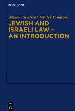 Jewish and Israeli Law - an Introduction - Shetreet, Shimon; Homolka, Walter