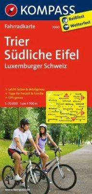 Kompass Fahrradkarte Trier, Südliche Eifel, Lux...