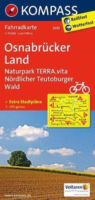 Kompass Fahrradkarte Osnabrücker Land, Naturpar...