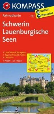 Kompass Fahrradkarte Schwerin, Lauenburgische S...