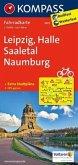 Kompass Fahrradkarte Leipzig, Halle, Saaletal, Naumburg / Kompass Fahrradkarten