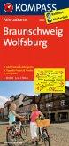 KOMPASS Fahrradkarte Braunschweig - Wolfsburg / Kompass Fahrradkarten