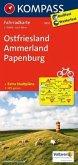 Kompass Fahrradkarte Ostfriesland, Ammerland, Papenburg / Kompass Fahrradkarten