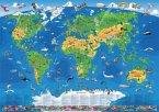 XXL-Panorama Kinder Weltkarte