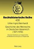 Geschichte des Weinrechts im Deutschen Kaiserreich (1871-1918)