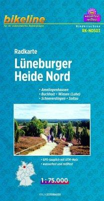 Bikeline Radkarte Lüneburger Heide Nord