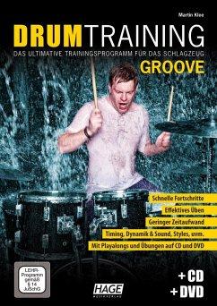 Drum Training Groove, m. Audio-CD + DVD - Klee, Martin