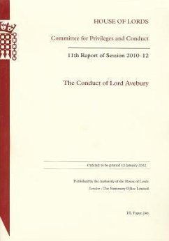Conduct of Lord Avebury (The): 11th Report of Session 2010-11: House of Lords Paper 246 Session 2010-12