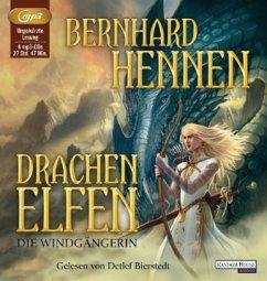 Die Windgängerin / Drachenelfen Bd.2 (4 MP3-CDs) - Hennen, Bernhard