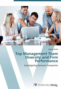 9783639402025 - Sabine Kiefer: Top Management Team Diversity and Firm Performance - Buch