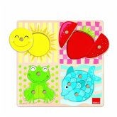Jumbo D53110 - Goula: Holzpuzzle 4 Farben, 10 Teile