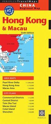 Hong Kong & Macau Travel Map Sixth Edition - Editors of Periplus