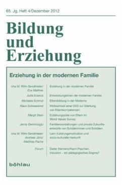 Bildung und Erziehung 65,4. Erziehung in der modernen Familie