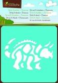 Mal-Schablonen 6er-Set Dinosaurier