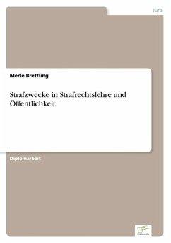 Strafzwecke in Strafrechtslehre und Öffentlichkeit - Brettling, Merle