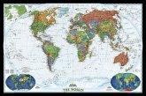 National Geographic Map World Decorator, Political Map, Planokarte