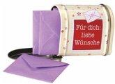 Für dich: Liebe Wünsche, 20 Briefchen in Minibriefkasten
