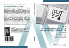 9783639405507 - Höss, Fabian: Die Einbeziehung von AGB beim Vertragsabschluss im Internet - Buch