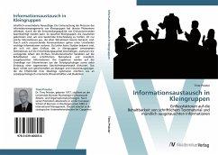 9783639406054 - Priester, Timo: Informationsaustausch in Kleingruppen - Book