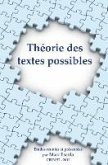 Theorie Des Textes Possibles