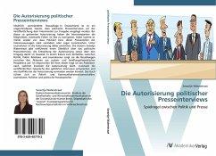 9783639407792 - Waterstraat, Swantje: Die Autorisierung politischer Presseinterviews - Buch