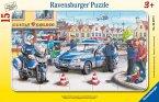 Ravensburger 06037 - Einsatz der Polizei, 15 Teile Rahmenpuzzle