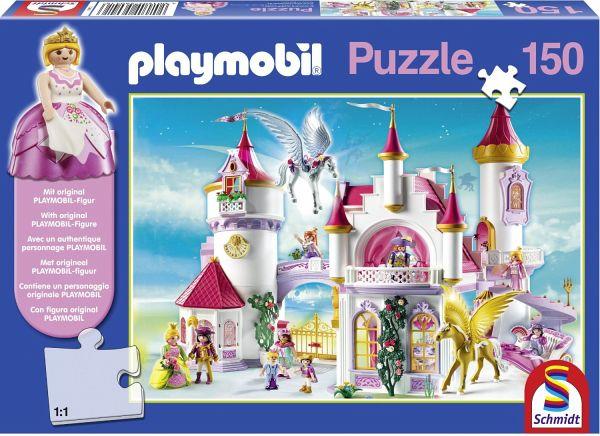 Schmidt 56041 - Playmobil: Im Prinzessinnenschloss mit Original Figur, 150 Teile Puzzle