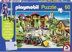 Schmidt 56042 - Playmobil: Im Dinoland mit Original Figur, 100 Teile Puzzle